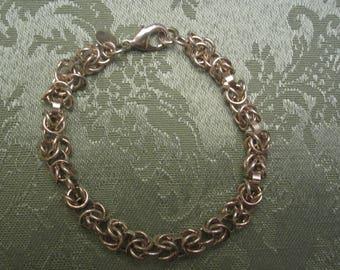 Round Link Silver Bracelet