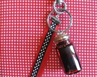 blood vial keychain