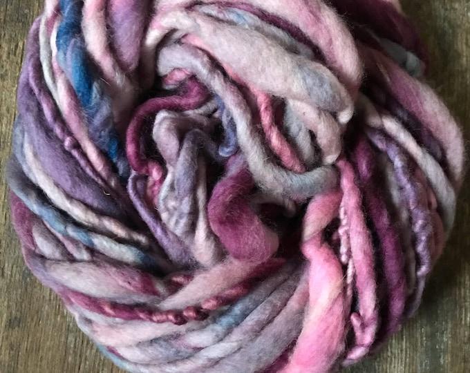 Iced Berry - handspun bulky yarn, 36 yards, bulky yarn, rustic art yarn, chunky yarn, wool handspun yarn