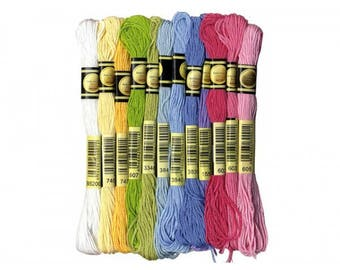 12 skeins 8 m Sweet cotton yarn