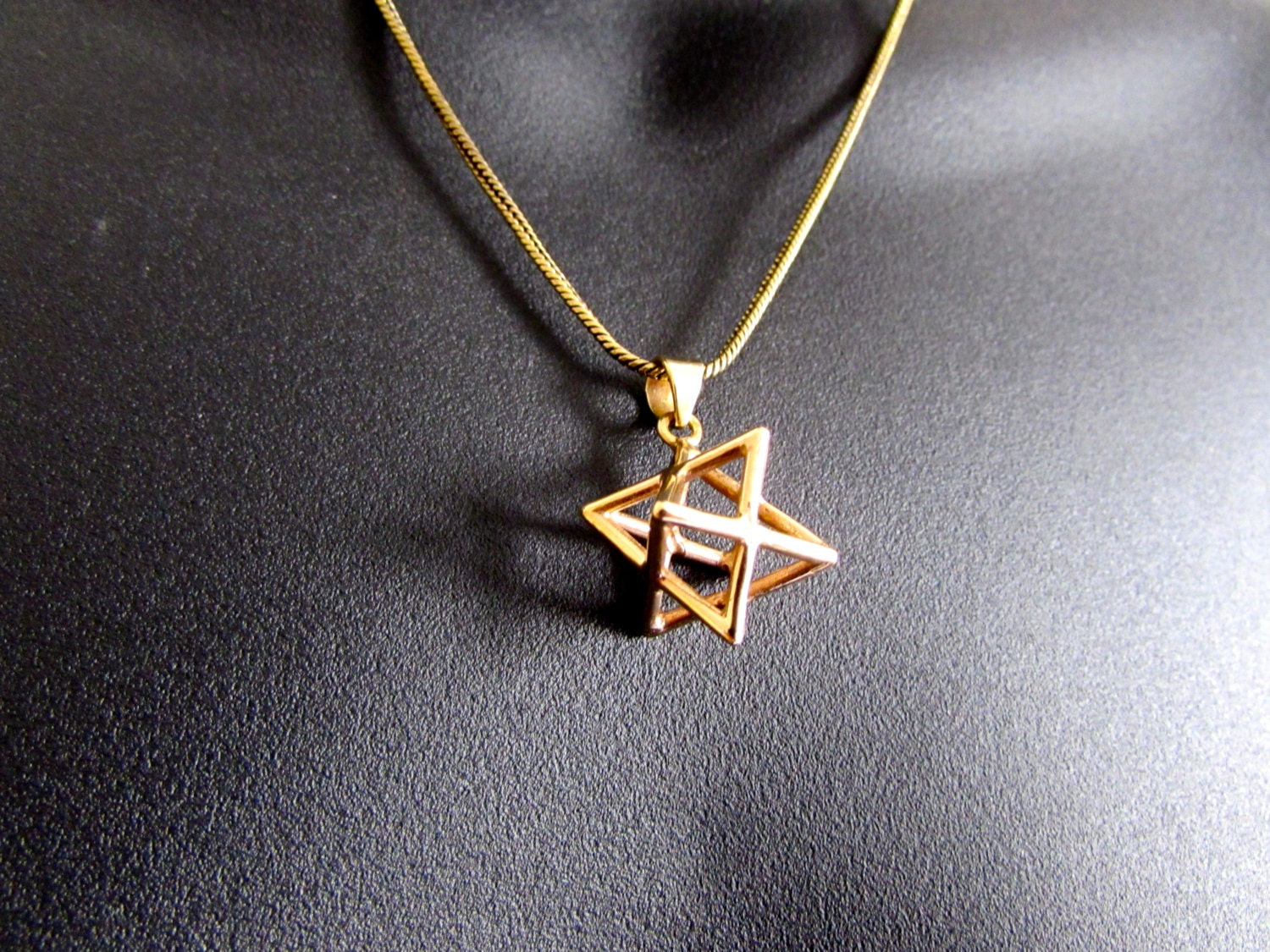 Merkaba necklace pendant sacred geometry kabbalah jewelry star zoom mozeypictures Gallery