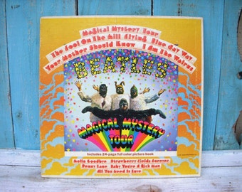 The Beatles Magical Mystery Tour 60s Vintage Capitol Records Record Vinyl Music Dance Party Dancing Gift for Beatles Lovers Beatle Lover