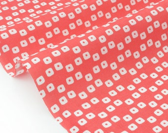 Geometric traditional style Japanese fabric pink background x 50cm