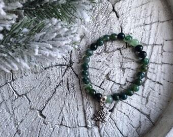 Christmas Tree shaped pendant bracelet