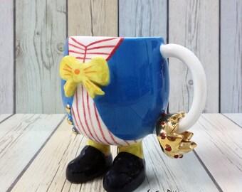 Tazza di caffè di Jack, la filastrocca raccolta, ceramiche a piedi, collezionisti Display tazze, unica novità Ware, raffinati regali di porcellana, ceramica