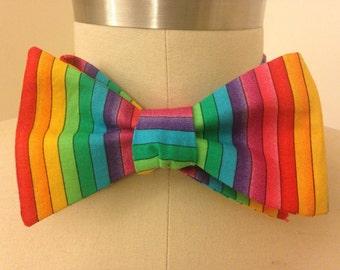 Rainbow Pride Bow Tie