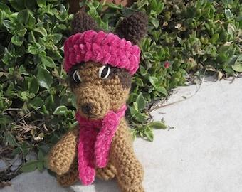 tiny crocheted dog handmade chihuahua mini dog miniature chihuahua stuffed dog crocheted chihuahua