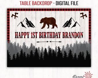 Lumberjack Backdrop, Lumberjack Birthday Backdrop, Lumberjack Party, Rustic, Lumberjack Birthday