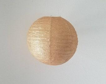 "14"" Rose Gold Glitter Paper Lantern"