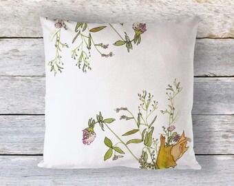 Floral Throw Pillow, Wildflower Throw Pillow, Botanical Home Decor, Pillows, Accent Pillow, by Ochre Nest Living