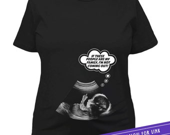 Funny Pregnancy T Shirt Maternity Shirt Pregnancy Reveal Baby Announcement TShirt Baby Shower Gift Ideas For Her Ladies Tee MAT-618