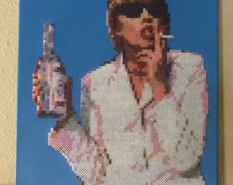Cheers, thanks a lot - Patsy Stone Absolutely Fabulous | 11x14 Canvas | British Television