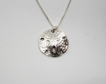 "Sand Dollar Necklace, Fine Silver - ""A Dollar You Will Want to Keep Forever"" Handmade  Beach"