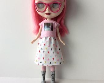 Tiny triangles Blythe skirt