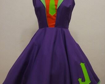 Joker cosplay dress / casual cosplay dress / comic costume / geek fashion / purple suit / Halloween /  villain / comic
