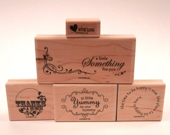 Thanks Card Typography Mixed Lot - New Rubber Stamp - Card Making - Crafts ~ 161026A