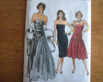 Vogue Pattern 9758 Misses' Dress     1986     Uncut