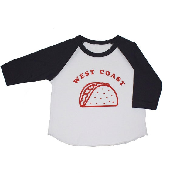 WEST COAST TACO - Toddler Long Sleeve Raglan