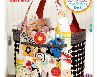 Sewing Pattern for Crafty Carrier Totes, Kwik Sew Pattern 0118, Tote Bag Pattern, Craft Totes, Sewing Tote, Knitting Tote