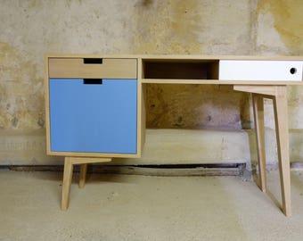 Scandinavian desk in oak