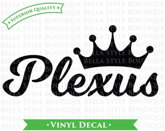 Plexus Crown VINYL DECAL
