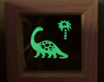 Glow-in-the-dark blacklight Dinosaur picture