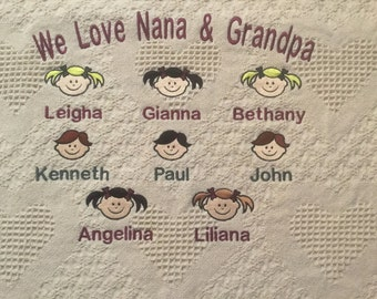 story blanket blanket for dad personalized blanket for