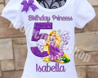 Rapunzel Birthday Shirt, Tangled Birthday Shirt