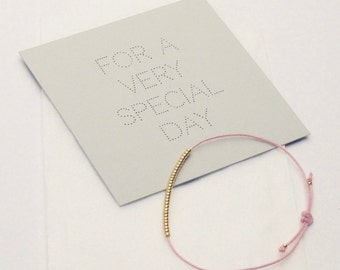 Bracelet - For a very special day - Rose
