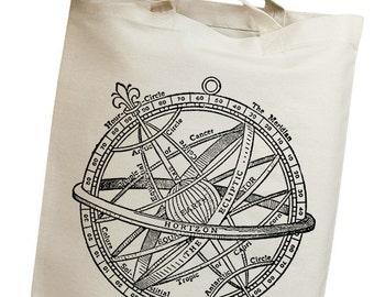 Space Orbit Vintage Eco Friendly Canvas Tote Bag (isa002)