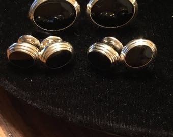 Oval Onyx Stud Set by Baade