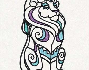 Embroidered Lion pillow , Lion Plush,Animal pillow, Lion throw pillow
