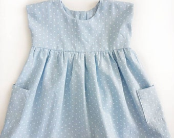 The Grace Dress | RTS | Chambray | Polka Dot | Spring/Summer Dress