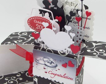 Custom Card In A Box - Personalized Handmade - Custom Anniversary/Wedding Greeting Card - Explosion Box Card - Pop Up Card - FREE SHIPPING