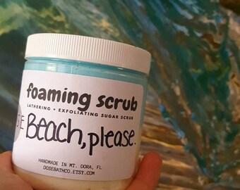 BEACH, PLEASE. Sugar Scrub x Foaming Sugar Scrub x Shower Frosting