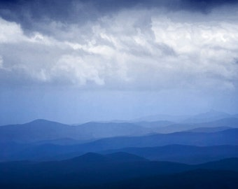 Blue Ridge Parkway Mountains and Cloud Formation in Virginia No.056 - A National Park Panorama Landscape Photograph