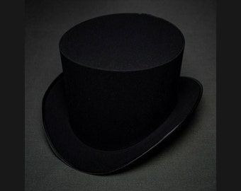Ladies Hat Black Top Hat Victorian Steampunk Fashion Hat Dressy Tophat Mens Womens Hats Cosplay Tea Party Mad Hatter Clothing Costume Weddin