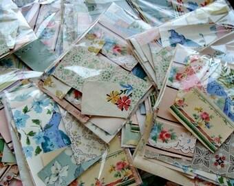 Gorgeous Vintage and Antique  Wallpaper Scrap packs