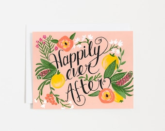 Happily Ever After - Wedding - couple - wish - For Her - Anniversary - Romantic - Card - Note