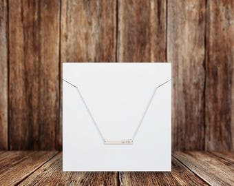 Blank Necklace Cards | Square | Jewelry Display Cards | SH001NE