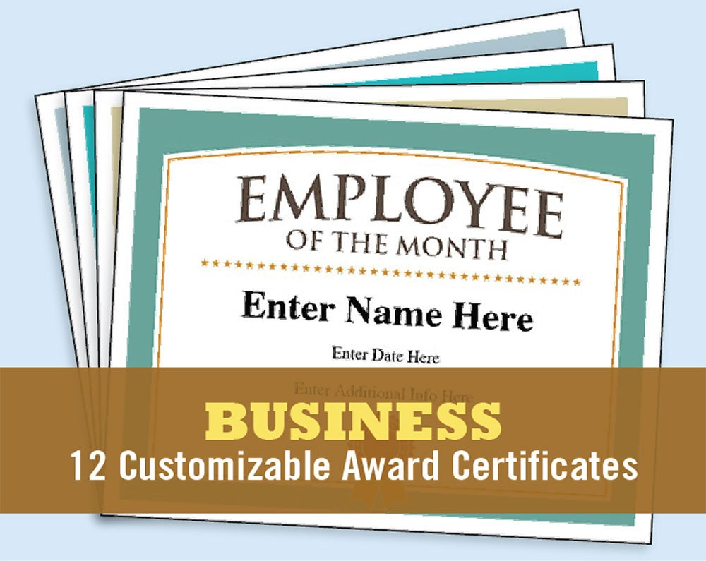 Business certificates award certificate templates employee zoom alramifo Images