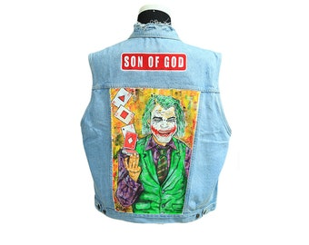 Games Hand Painted denim Jacket
