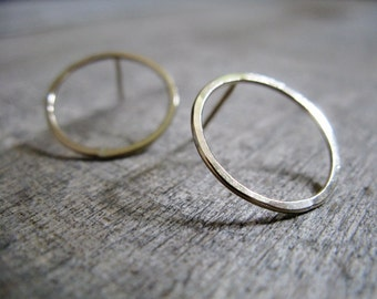 Gold fill Hoop Stud Earrings