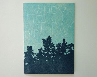 Letterpress Birthday Card