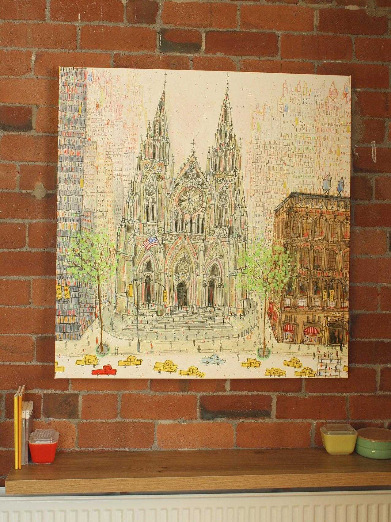 LARGE NEW YORK Art St Patricks Canvas New York Wall Art New