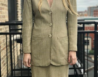 two piece skirt and jacket set by ann taylor