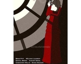 Movie poster retro print Inglourious Basterds in various sizes