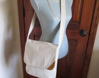Burlap Messenger Bag/Detail Corner Flap/Long Shoulder Strap/Cross Over Body Bag