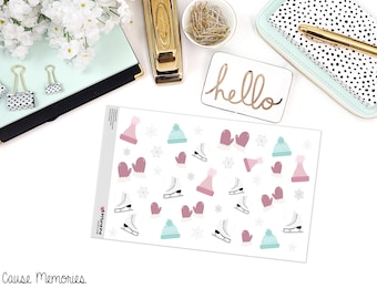 ICE SKATE, BOO Paper Planner Stickers