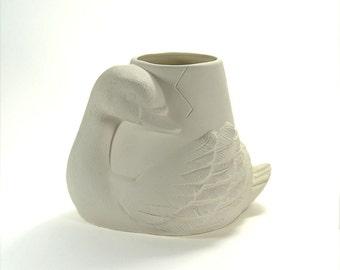 Swan Pot Planter Ready to Paint Ceramic Bisque